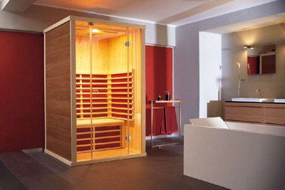 domo sauna zu hause. Black Bedroom Furniture Sets. Home Design Ideas
