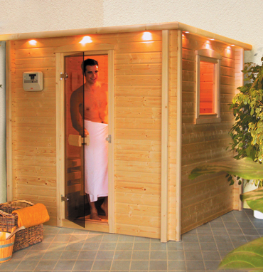 optitherm sauna zu hause. Black Bedroom Furniture Sets. Home Design Ideas