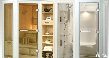 kombisaunen sauna zu hause. Black Bedroom Furniture Sets. Home Design Ideas