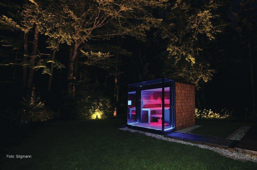 Einer der Trends bei der Sauna: Glas