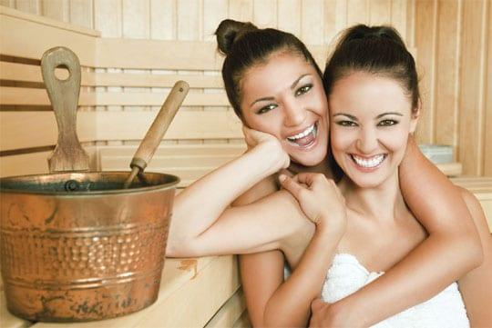 kein schwitzen in der sauna