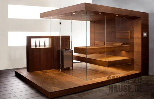 die 20 sch nsten designsaunen sauna zu hause. Black Bedroom Furniture Sets. Home Design Ideas
