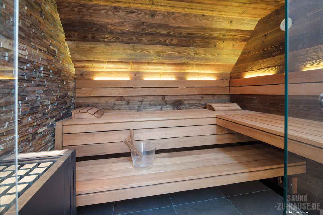 unikat der natur sauna zu hause. Black Bedroom Furniture Sets. Home Design Ideas