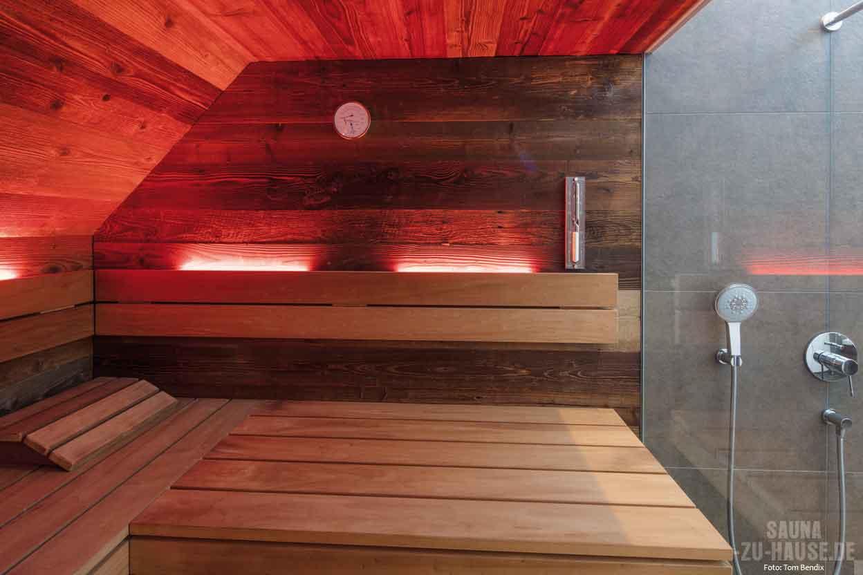 unikat der natur sauna zu hause. Black Bedroom Furniture Sets. Home Design Ideas