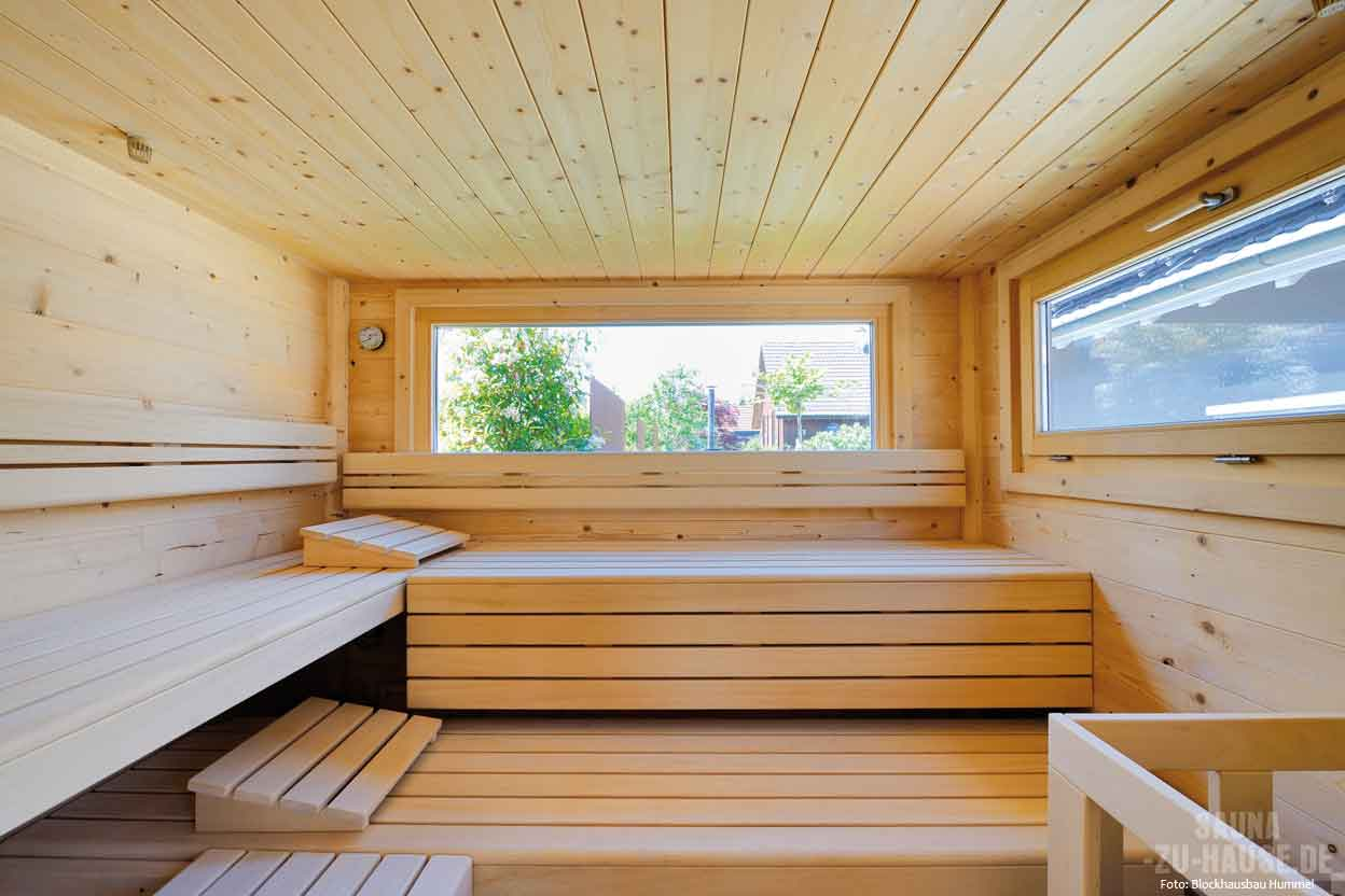 inside and out side sauna zu hause. Black Bedroom Furniture Sets. Home Design Ideas