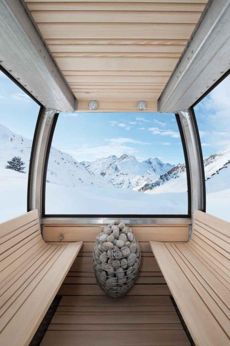 Saunaofen statt Ski und Snowboard