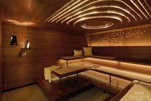 Lichtblicke in der Sauna